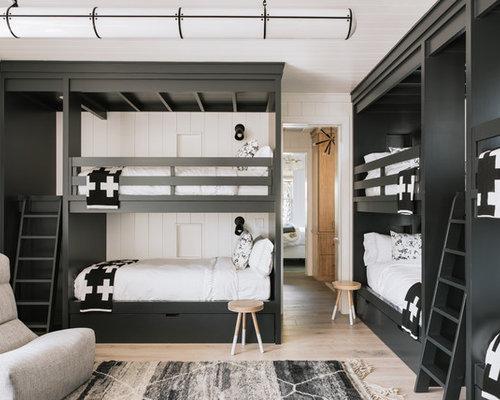 modelo de dormitorio infantil de a aos costero con suelo de madera