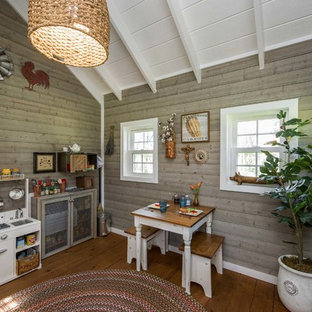 Example of a cottage kids' room design in Dallas