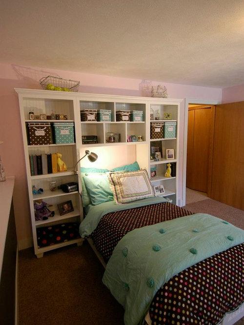 Built In Shelves Around Bed Houzz