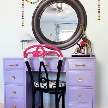 Teen Girls Room in Aqua and coral