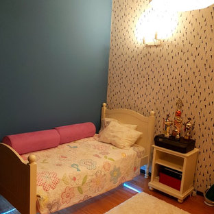 Teen girly room blue and yellow