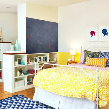 teen yellow bedroom