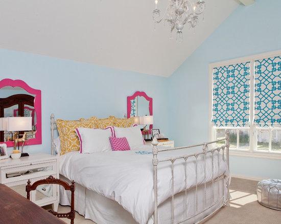 Girls Bedroom Blue And Pink tiffany blue aqua and pink girls bedroom | houzz