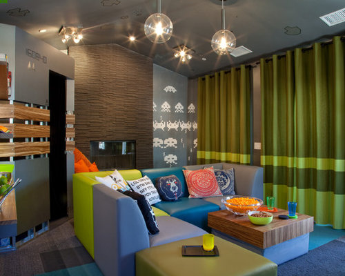 Houzz teenage game room design ideas remodel pictures - Kids game room ideas ...