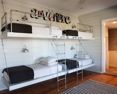 SaveEmail - Floating Bunk Bed Houzz