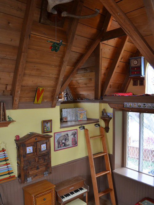 eclectic playroom idea in dallas - Tree House Inside