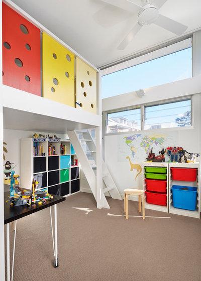 コンテンポラリー 子供部屋 by elaine richardson architect
