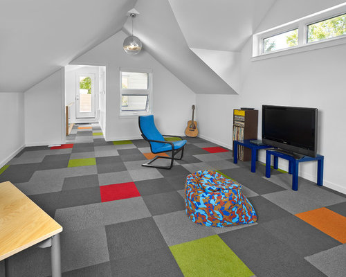 Large Contemporary Gender Neutral Carpeted And Multicolored Floor Kidsu0027 Room  Idea In Edmonton With Part 61