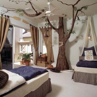 Свежая идея для дизайна: детская в средиземноморском стиле с спальным местом - отличное фото интерьера
