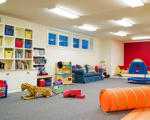 Basement playroom ideas pictures remodel and decor for Kid friendly family room design