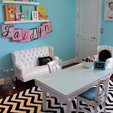 Contemporary Kids Toddler Girl's Playroom
