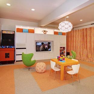 Idee per una piccola cameretta per bambini da 4 a 10 anni contemporanea