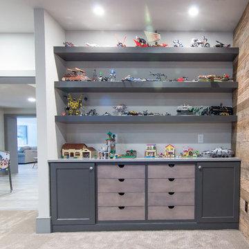 Toy Storage Niche in West Chester Basement