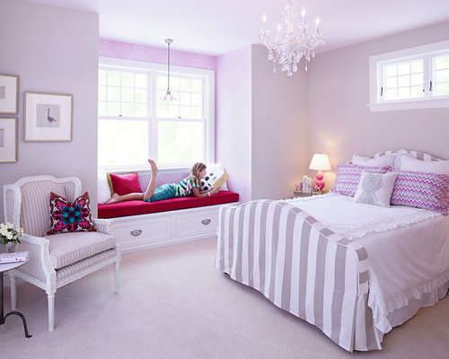 little girls room window houzz - Young Girls Bedroom Design