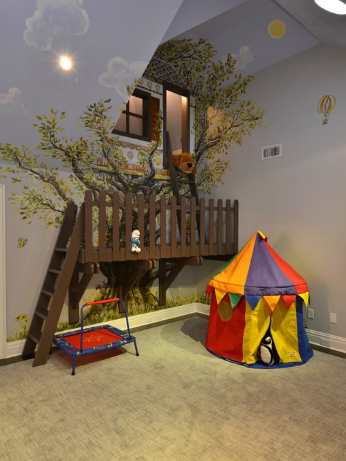 Indoor treehouse home design ideas pictures remodel and for Fort bedroom ideas
