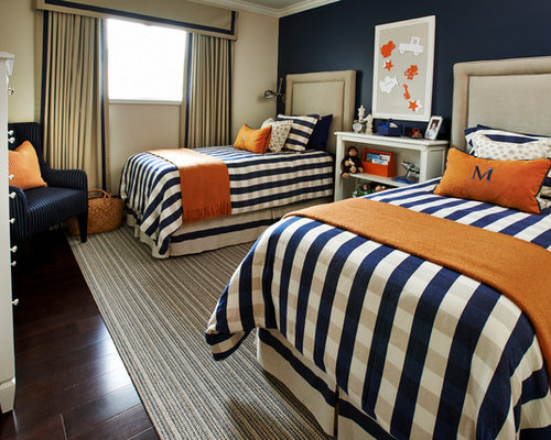 7 Inspiring Kid Room Color Options For Your Little Ones: Navy Blue And Orange