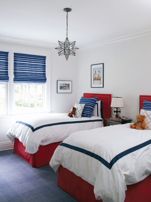 Red and blue boys room houzz - Blue boys rooms ...