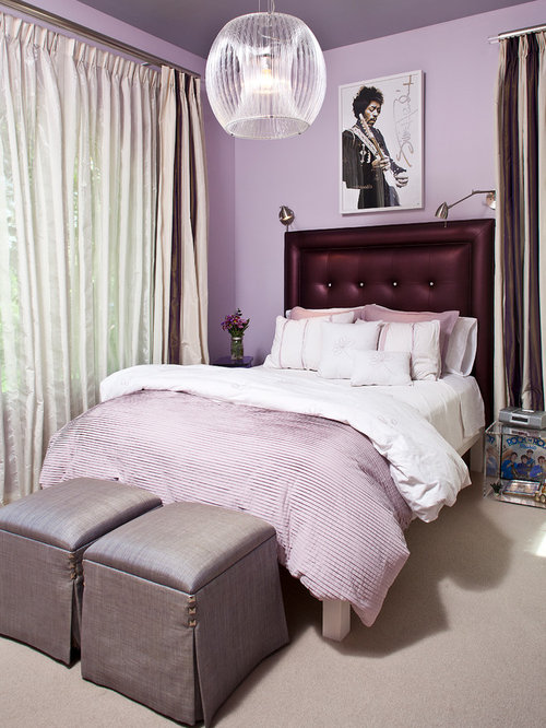 teen purple bedroom teen headboard houzz 13496