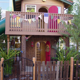 Example of an eclectic kids' room design in Sacramento