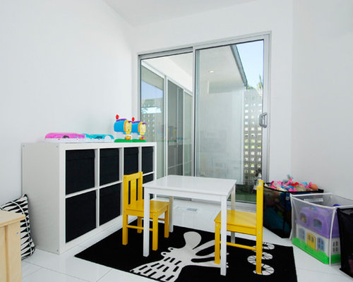 kinderzimmer mit linoleum und spielecke ideen design bilder houzz. Black Bedroom Furniture Sets. Home Design Ideas
