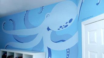 Undersea Mural for Teen Bedroom