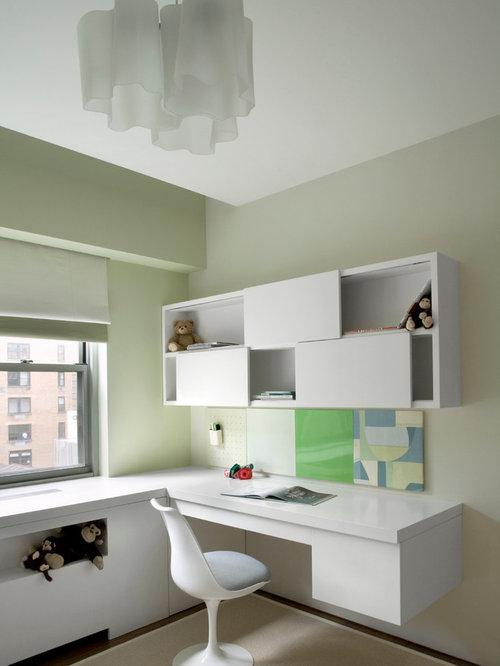 diseo de dormitorio infantil moderno con paredes verdes