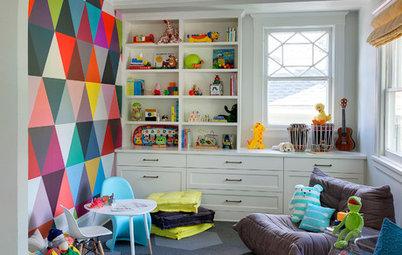 Habitaciones de niños: Decora las paredes con motivos geométricos