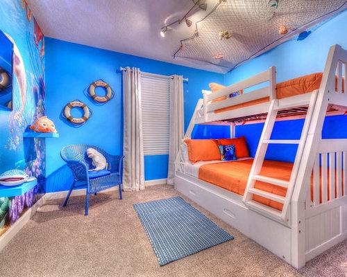 Kidsu0027 Bedroom   Contemporary Gender Neutral Carpeted And Beige Floor Kidsu0027  Bedroom Idea