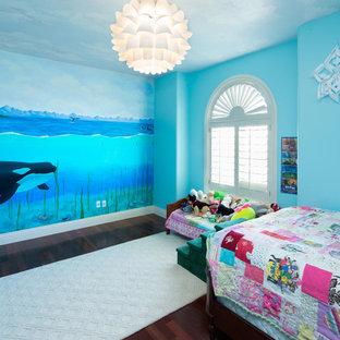 Idéer för att renovera ett vintage barnrum kombinerat med sovrum