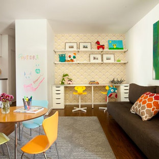 Playroom   Contemporary Gender Neutral Dark Wood Floor And Brown Floor Playroom  Idea In Los