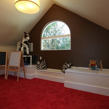 Finished Attic Playroom, Verona, NJ