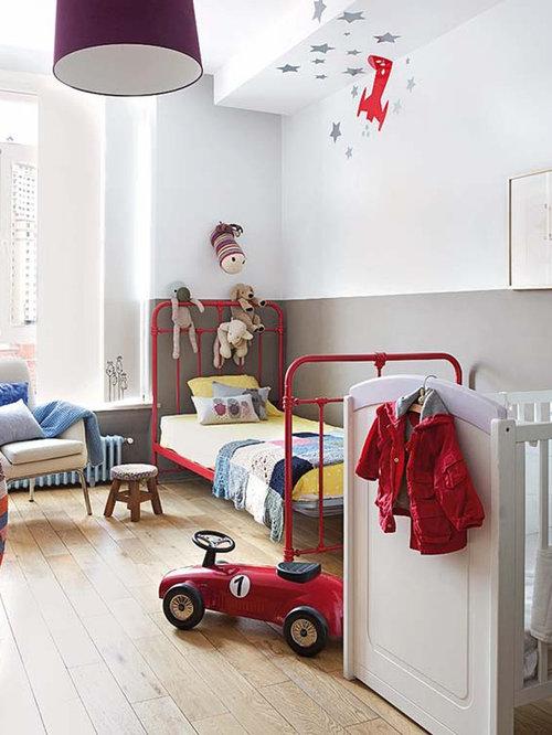 diseo de dormitorio infantil de a aos moderno de tamao medio
