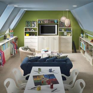 Ispirazione per una stanza dei giochi chic