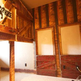 Exemple d'une chambre d'enfant montagne.