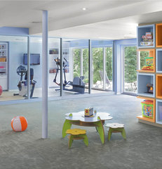 contemporary home gym by Eisner Design LLC