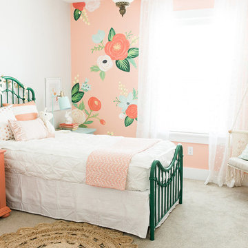 Whimsical Floral Girls Bedroom by Design Loves Detail