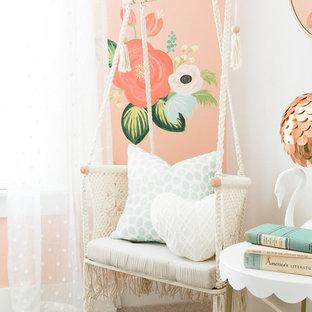 Inspiration pour une chambre d'enfant style shabby chic.