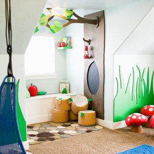 Kids' room - contemporary gender-neutral kids' room idea in Salt Lake City