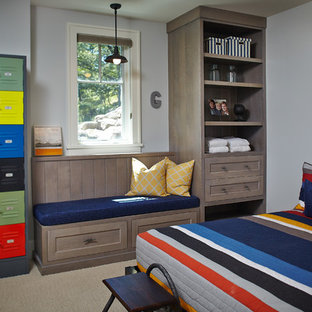 Exceptional Inspiration For A Beach Style Kidsu0027 Room Remodel In Grand Rapids With Gray  Walls