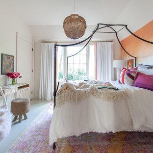 Chambre d\'ado avec un mur orange : Photos et idées déco de chambres ...