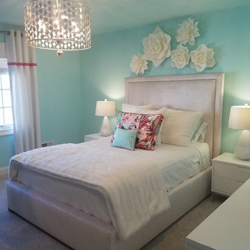 Young Girl's Hip and Colorful Bedroom