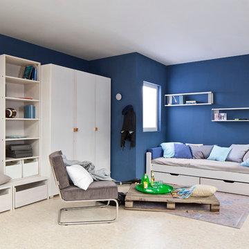 Ein cooles Jugendzimmer in weiß