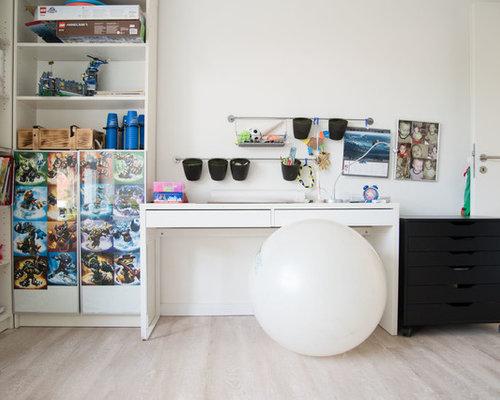Landhausstil kinderzimmer ideen design bilder houzz for Landhaus jugendzimmer