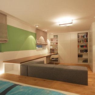 Example Of A Large Trendy Boy Light Wood Floor And Brown Floor Kidsu0027 Room  Design