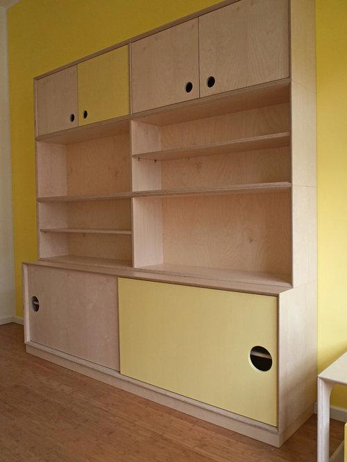 kinderzimmer multiplex natur gelb. Black Bedroom Furniture Sets. Home Design Ideas