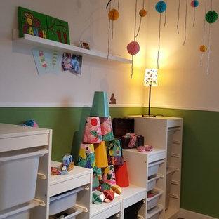 Chambre d\'enfant avec un mur vert Dusseldorf : Photos et idées déco ...