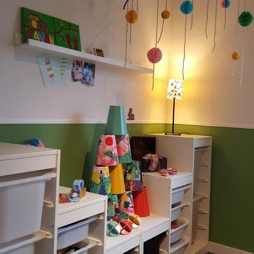 Chambre d\'enfant avec un mur vert Dusseldorf : Photos et ...