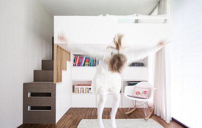 Un dormitorio de 13 m² para una niña en el que cabe todo