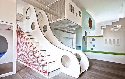 Hoch drei! Ein Kinderzimmer, das auf allen Ebenen Dimensionen sprengt