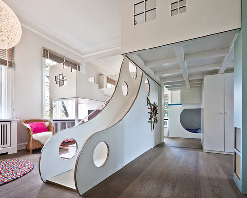 Kinderzimmer mit spielecke ideen design houzz for Moderne kinderzimmer